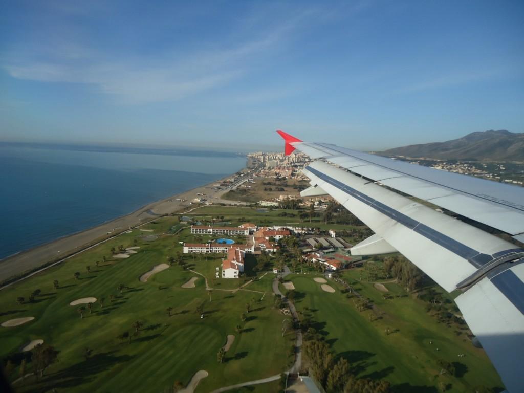 Anflug auf Malaga