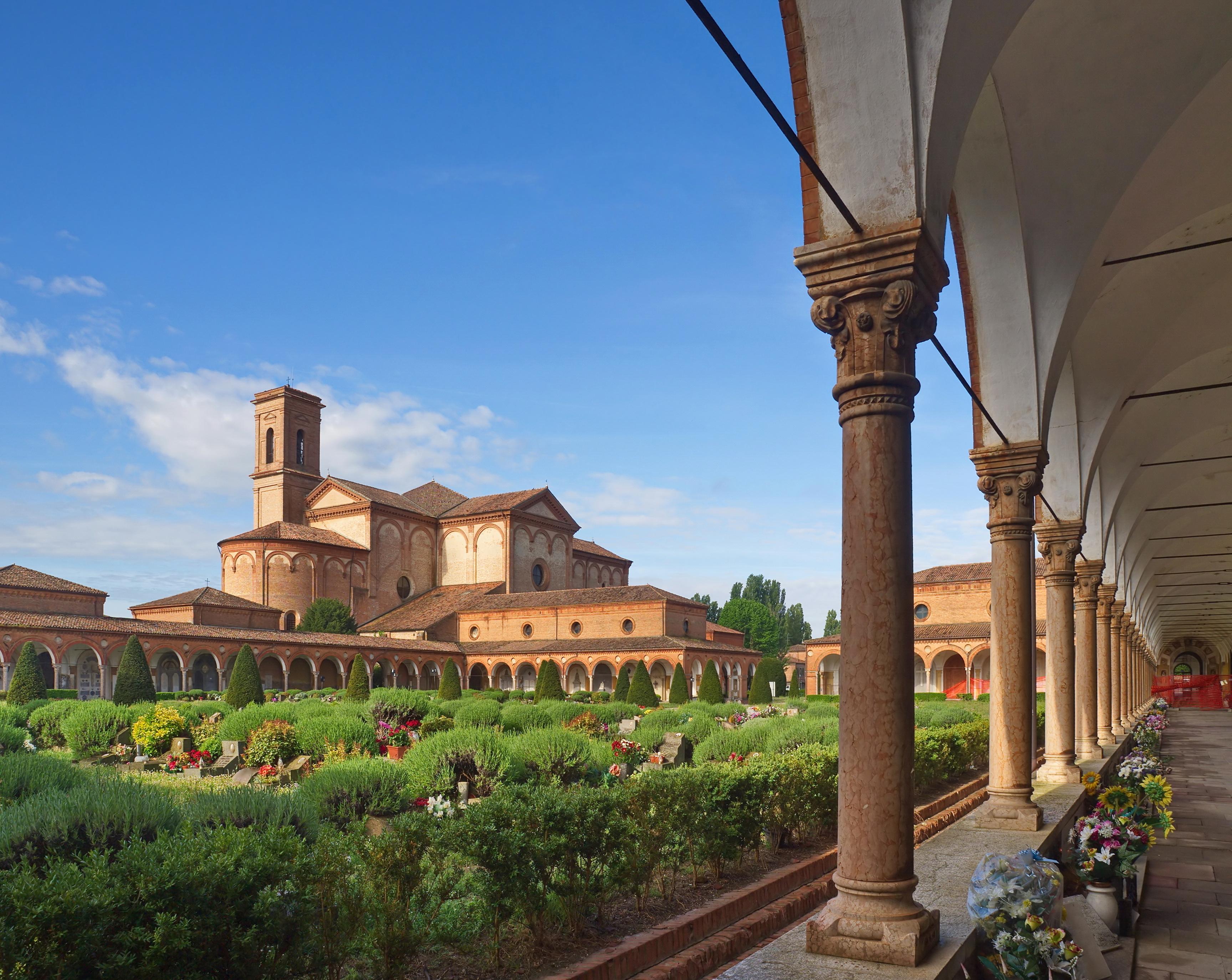 Die Kirche San Cristoforo alla Certosa in Ferrara / Italien