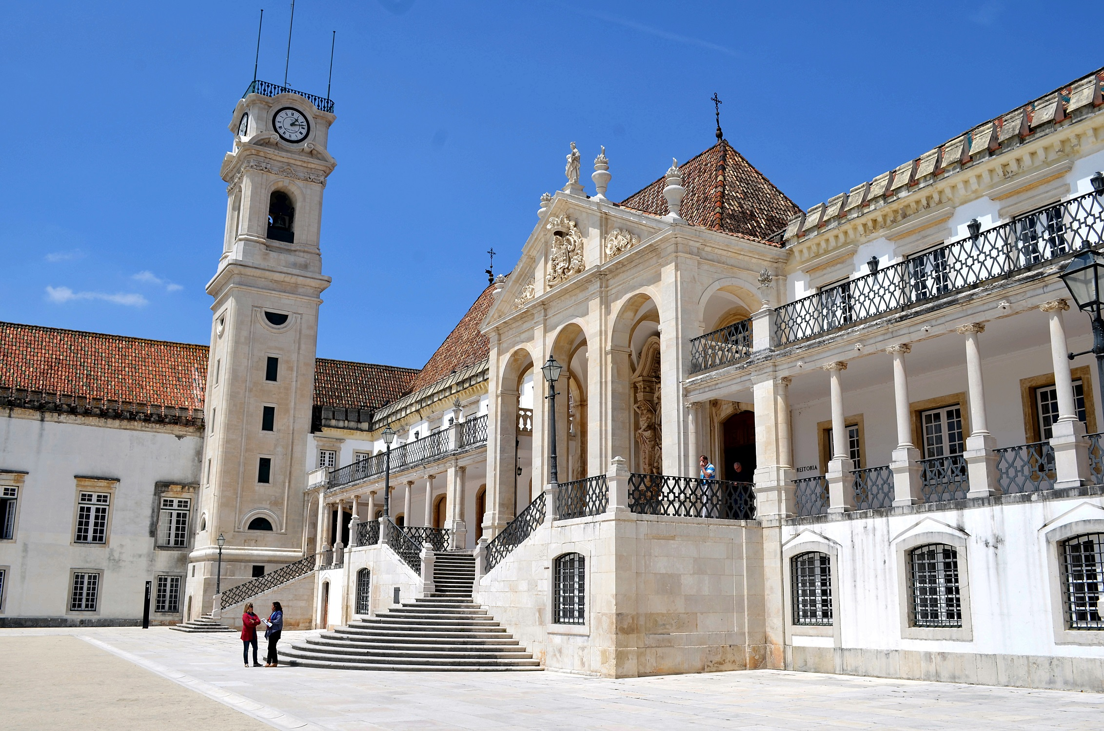 Turm und Palast des Rektors Coimbra Universität, Portugal