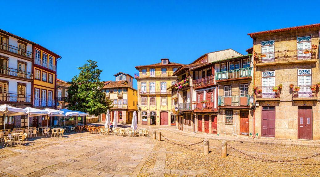 Sao Tiago Square in Guimarães, Portugal